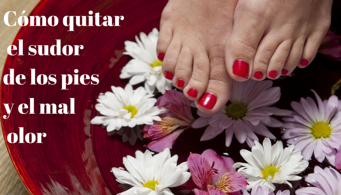Cómo quitar el sudor de los pies y el mal olor