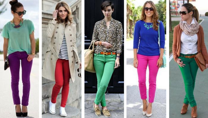 cómo combinar pantalones de colores 2