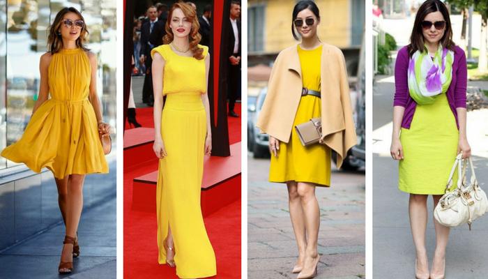 C mo combinar un vestido amarillo - Que colores combinan con el amarillo ...