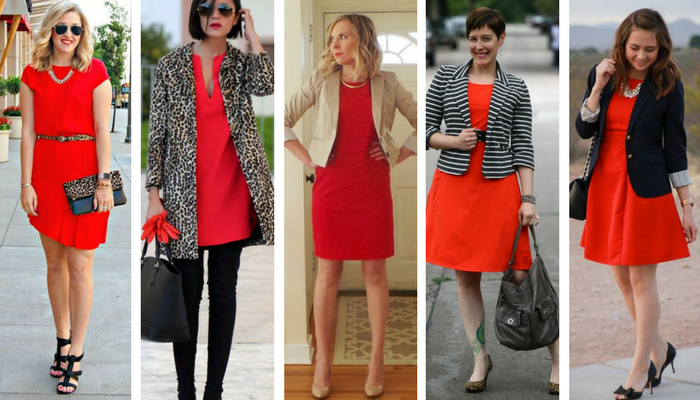 cómo combinar un vestido rojo 2