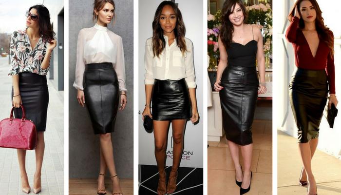 f87e0c0ef Cómo combinar una falda de cuero negra. - Ropa y tendencias
