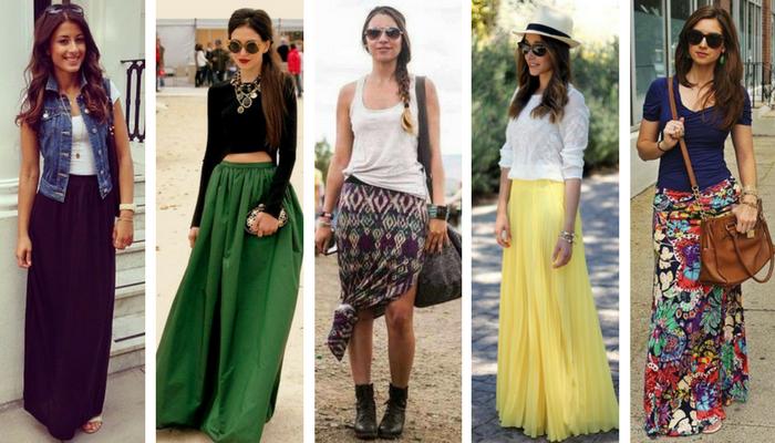 Cómo combinar una falda larga 3