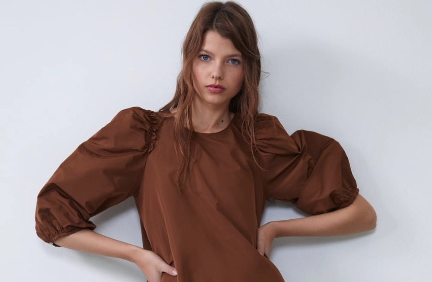 vestido color marron